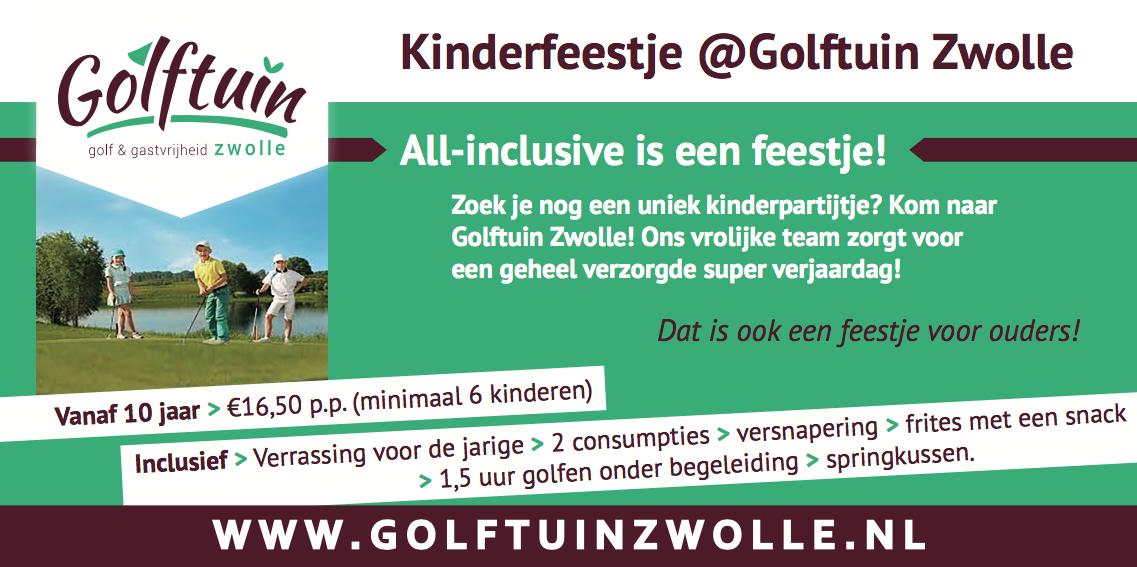 Kinderfeestje Golftuin Zwolle